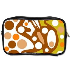 Orange and white decor Toiletries Bags 2-Side