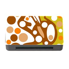 Orange and white decor Memory Card Reader with CF