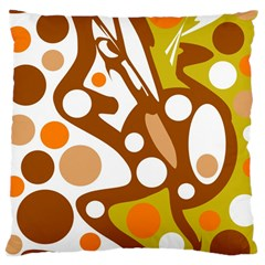 Orange and white decor Large Cushion Case (Two Sides)