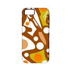 Orange and white decor Apple iPhone 5 Classic Hardshell Case (PC+Silicone)