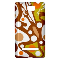 Orange and white decor HTC 8S Hardshell Case