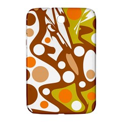 Orange And White Decor Samsung Galaxy Note 8 0 N5100 Hardshell Case