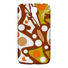 Orange and white decor Samsung Galaxy Mega 6.3  I9200 Hardshell Case