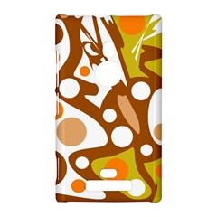 Orange and white decor Nokia Lumia 925