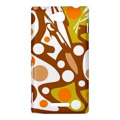 Orange and white decor Sony Xperia C (S39H)