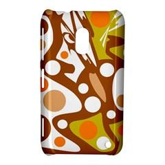 Orange and white decor Nokia Lumia 620