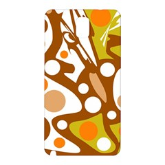 Orange and white decor Samsung Galaxy Note 3 N9005 Hardshell Back Case