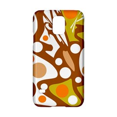 Orange and white decor Samsung Galaxy S5 Hardshell Case