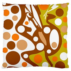 Orange and white decor Standard Flano Cushion Case (One Side)