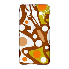 Orange and white decor Samsung Galaxy A5 Hardshell Case