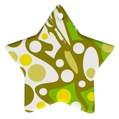 Green and yellow decor Ornament (Star)