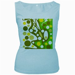 Green and yellow decor Women s Baby Blue Tank Top