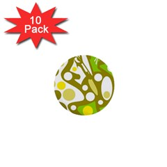 Green and yellow decor 1  Mini Buttons (10 pack)