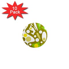 Green and yellow decor 1  Mini Magnet (10 pack)