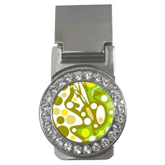 Green and yellow decor Money Clips (CZ)