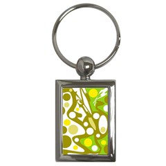 Green and yellow decor Key Chains (Rectangle)