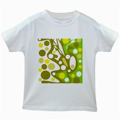 Green and yellow decor Kids White T-Shirts
