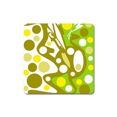 Green and yellow decor Square Magnet