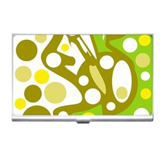 Green and yellow decor Business Card Holders