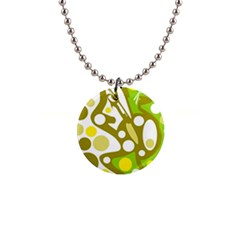 Green and yellow decor Button Necklaces
