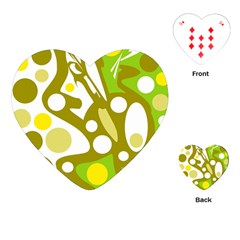 Green and yellow decor Playing Cards (Heart)