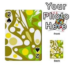 Green and yellow decor Playing Cards 54 Designs