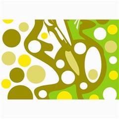 Green and yellow decor Collage Prints