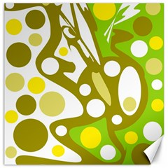 Green and yellow decor Canvas 12  x 12