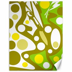 Green and yellow decor Canvas 12  x 16