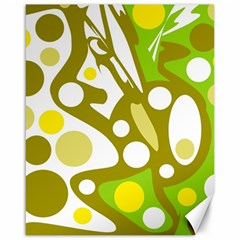 Green and yellow decor Canvas 16  x 20