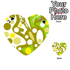 Green and yellow decor Playing Cards 54 (Heart)