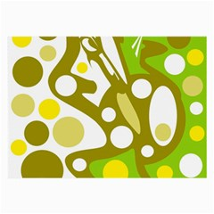 Green and yellow decor Large Glasses Cloth (2-Side)