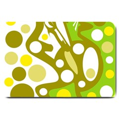 Green and yellow decor Large Doormat