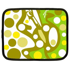 Green and yellow decor Netbook Case (Large)