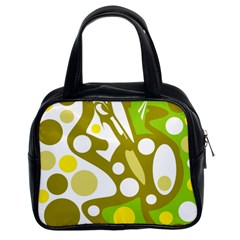 Green and yellow decor Classic Handbags (2 Sides)
