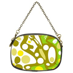 Green And Yellow Decor Chain Purses (one Side)
