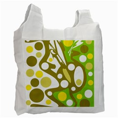 Green and yellow decor Recycle Bag (One Side)