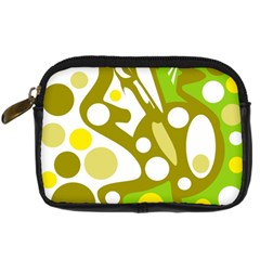 Green and yellow decor Digital Camera Cases