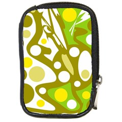 Green and yellow decor Compact Camera Cases