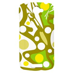 Green and yellow decor HTC One S Hardshell Case
