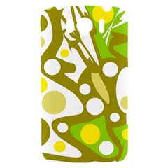 Green and yellow decor HTC Sensation XL Hardshell Case
