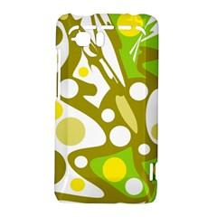 Green and yellow decor HTC Vivid / Raider 4G Hardshell Case