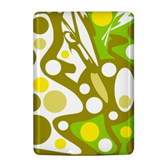 Green and yellow decor Kindle 4