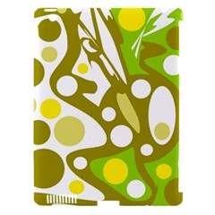 Green and yellow decor Apple iPad 3/4 Hardshell Case (Compatible with Smart Cover)