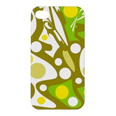 Green and yellow decor Apple iPhone 4/4S Premium Hardshell Case