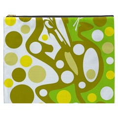 Green and yellow decor Cosmetic Bag (XXXL)