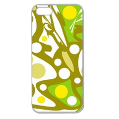 Green and yellow decor Apple Seamless iPhone 5 Case (Clear)