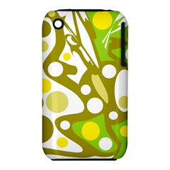 Green and yellow decor Apple iPhone 3G/3GS Hardshell Case (PC+Silicone)
