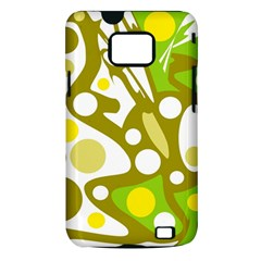 Green and yellow decor Samsung Galaxy S II i9100 Hardshell Case (PC+Silicone)