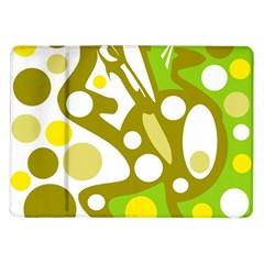 Green and yellow decor Samsung Galaxy Tab 10.1  P7500 Flip Case